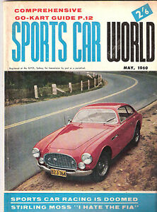 Sports Car World 1960 May VW Karmann Ghia Austin Seven Cooper Hillman Ferrari Vi