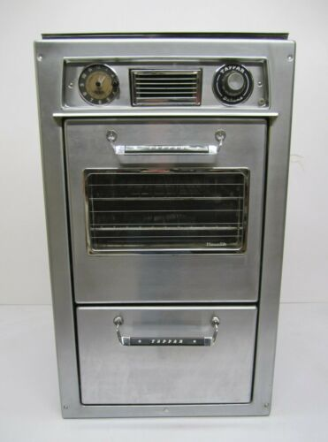 Vtg MCM Tappan Deluxe Gas Wall Oven & Broiler Stainless Steel