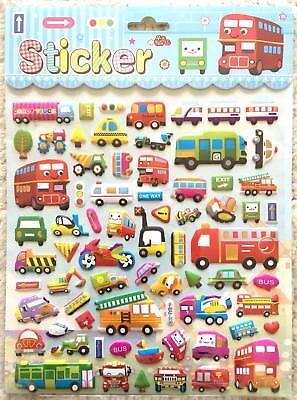Vehicle 3D Sticker Car Taxi Bus Double Decker Bullet Train Bike Truck Boy JAPAN