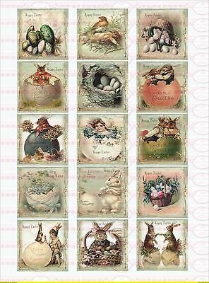 Bügelbild Ostern Hase Ei Küken Kind Korb  Shabby-Chic Vintage A4  NO.1462