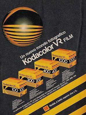 X3043 Kodak - Kodacolor VR Film - Pubblicità d'epoca - 1984 vintage advertising usato  Cantogno
