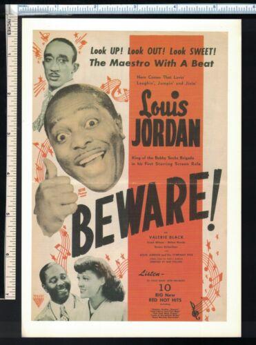 Soul R&B Post Card/Mini Poster Louis Jordan in