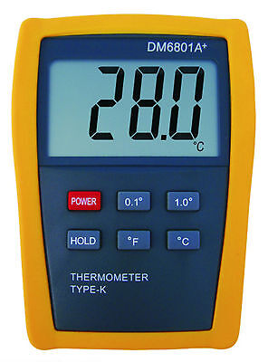 Scientific Digital K-type Thermometer Sensor Probe Hvac Tool Temperature Dm6801
