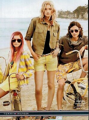 2014 Tommy Hilfiger : SEXY LEGS Vintage mustang bikes Magazine Print AD