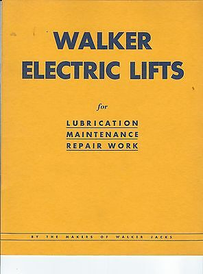 NE-070 - Waker Electric Lifts for Auto Repair Shops, 1933 Catalog, Cars