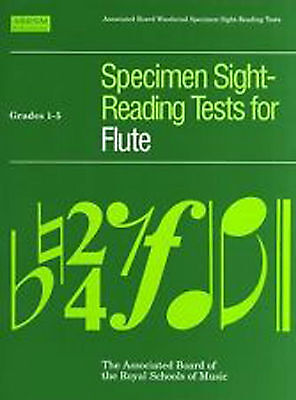 ABRSM Specimen Sight Reading Tests for Flute Grades 1-5 B38 S130