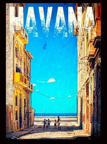 Cuba Cuban Havana Habana Caribbean Ocean Sea Travel  Advertisement Poster