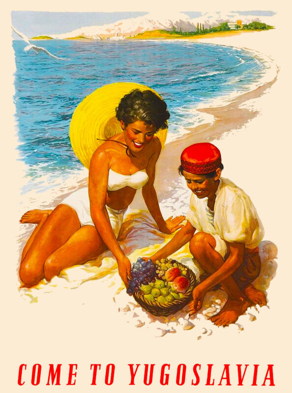 Come to Yugoslavia Europe European Vintage Travel Advertisement Art Poster