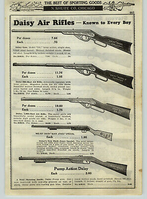 1936 PAPER AD Daisy Air Rifle Buck Jones Special Pump Action Black Walnut Stock ()
