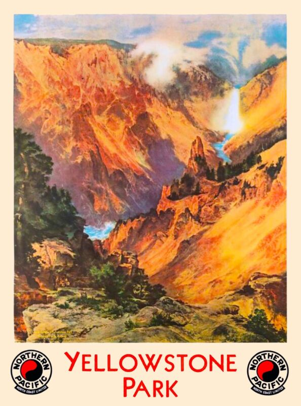 Wyoming Yellowstone National Park United States Travel Advertisement Poster
