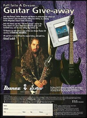 Dream Theater John Petrucci Ibanez RG470 guitar giveaway contest form 8 x 11 ad (Musical Instrument Giveaways)