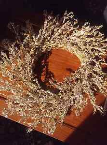 Gold Crystal Christmas Wreath Shoal Bay Port Stephens Area Preview