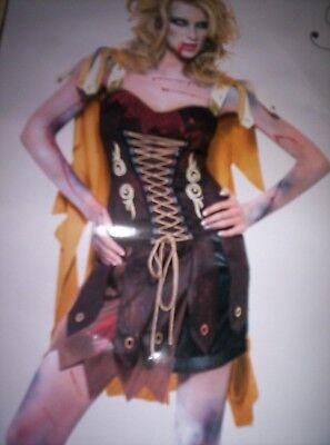Kostüm Gr. S Halloween Zombie Gladiator Warrior Horror Schwertkämpferin Damen