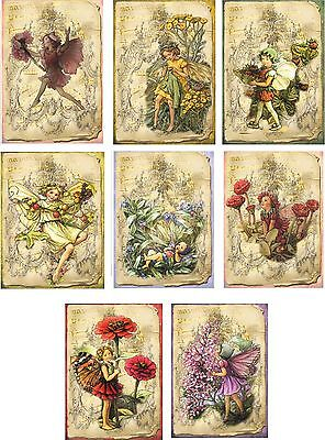 Vintage inspired fairy flower blank stationery set 8 with envelopes