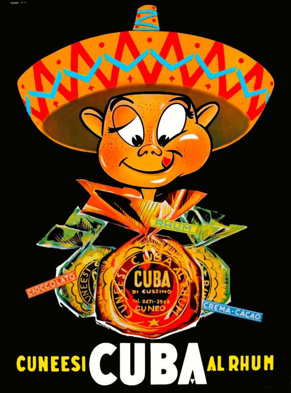 Cuba Cuban Havana Rhum Rum Habana Caribbean Travel Advertisement Poster