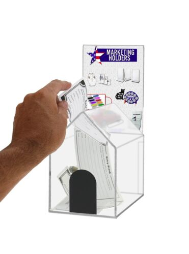 Small Acrylic House Locking Coin/Suggestion Box