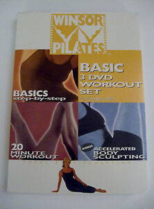 Winsor Pilates Basic 3 DVD Set  Fitness Exercise workout Mari Winsor