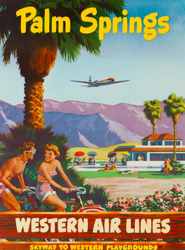 Palm Springs California United States America Travel Advertisement Poster 7