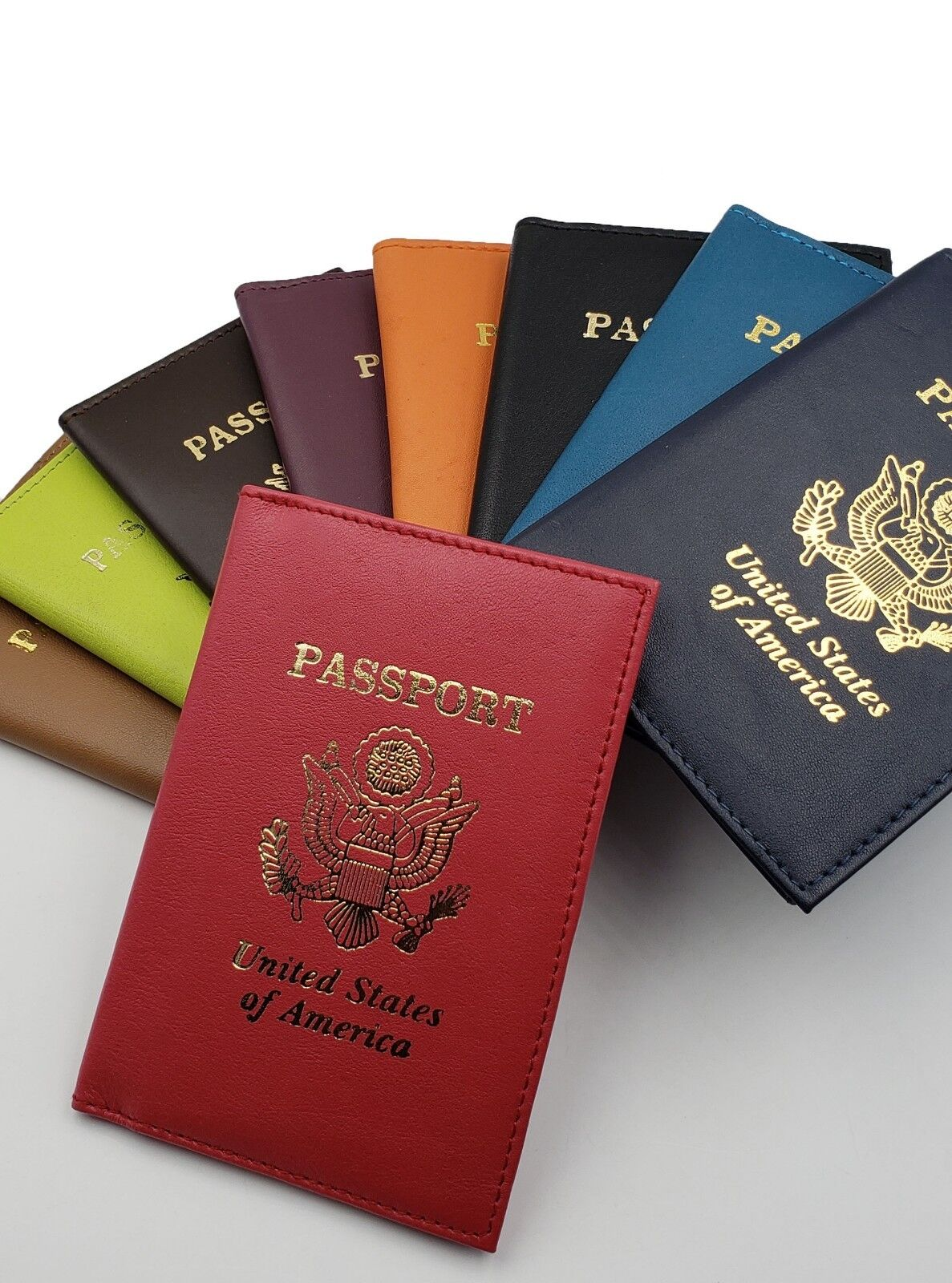 AG Wallets Leather US Passport Cover ID Holder Wallet Travel Case Handmade New