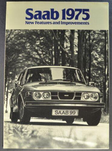 1975 Saab Features Brochure 99GL Sedan WagonBack EMS Excellent Original 75