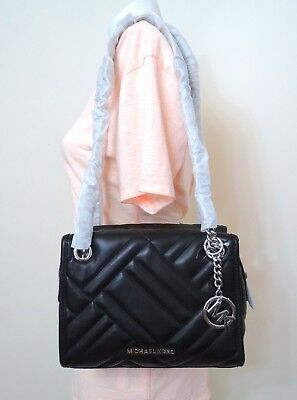 Michael Kors Kathy Quilted Lamb Leather Small Satchel Shoulder Bag in -