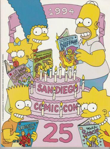 SAN DIEGO COMIC CON PROGRAM 1994 SDCC 25th Anniversary SIMPSONS Godzilla