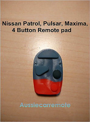 Nissan Patrol, Pulsar, Maxima, Pathfind 4 Button Replacement Remote key pad