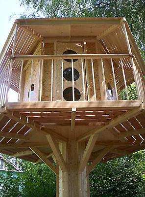 BAUMHAUS Spielturm Stelzenhaus Spielhaus Kinderspielhaus BAUPLAN BAUANLEITUNG