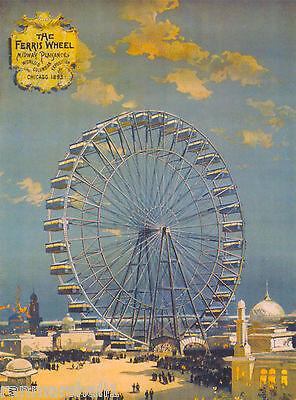 Chicago Illinois 1893 World's Fair United States Travel Advertisement Poster 3