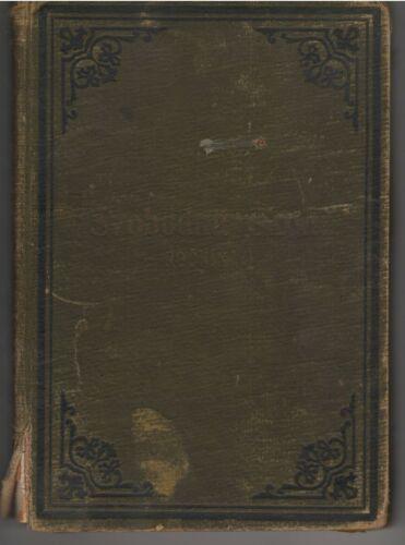 Original 1901 Chicago Czech Free School SVOBODNA SKOLA Book in Czech