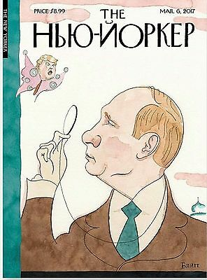 VLADIMIR PUTIN DONALD TRUMP - NEW COLD WAR - THE NEW YORKER MAGAZINE MARCH 2017