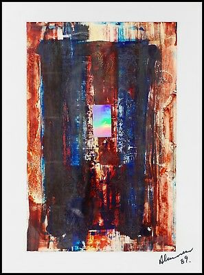 ALEXANDER Painting Acrylic with Hologram on Paper/Canvas Abstract UK Sculptor