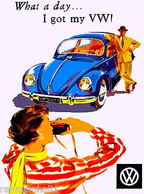 1956 Volkswagen German Germany Automobile Race Car Advertisement Vintage Poster
