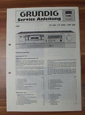 Cassette Deck CF400 CF4000 CBF400 Grundig Service Manual Serviceanleitung online kaufen
