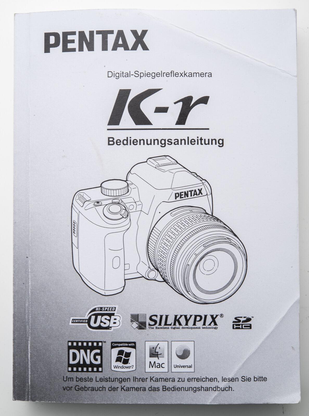 Bedienungsanleitung Pentax Gebrauchsanleitung K-R Digital Spiegelreflexkamera KR