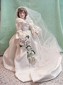 Collectible 1982 Effanbee Princess Diana Doll In Wedding Dress EBay