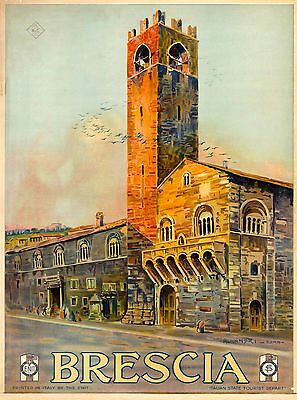 Brescia Italy Vintage Italian Travel Advertisement Art Poster Print