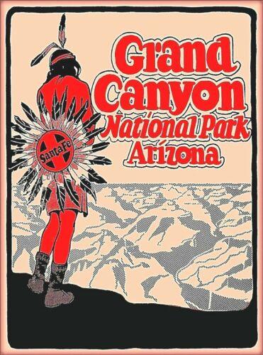 Grand Canyon National Park Santa Fe Travel Ad Art Print Poster
