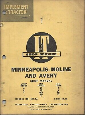 It Minneapolis Moline Avery Shop Manual
