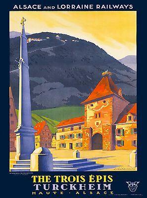 Turckheim Haute Alsace France French Europe Vintage Travel Advertisement Poster