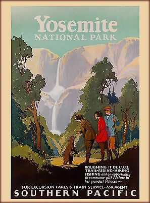 Yosemite National Park California United States Travel Advertisement Poster 2