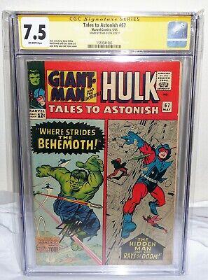 Tales to Astonish #67 CGC SS Signature Autograph STAN LEE Giant Man Hulk Hidden