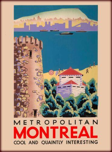 Metropolitan Montreal Canada Canadian Travel Advertisement Poster