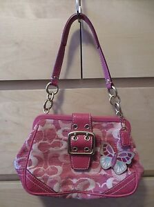 Rare authentic Coach pink butterfly purse