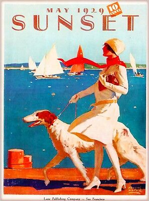 1929 Sunset San Francisco California Vintage Travel Advertisement Art Poster