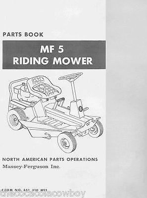 Massey Ferguson Mf5 Lawn Garden Tractor Parts Manual 081974
