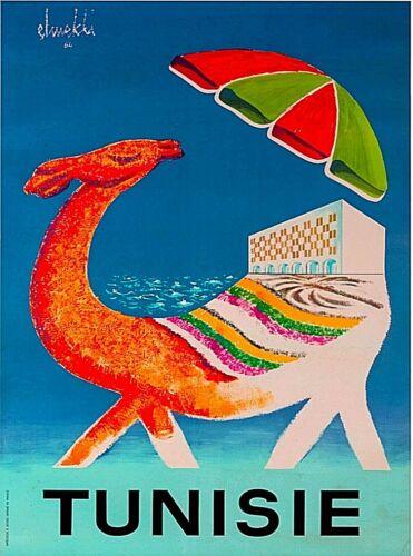 Tunisie Tunisia Camel Africa Vintage African Travel Advertisement Poster Print