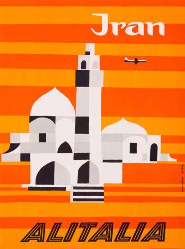 Isfahan Iran Persia Persian Arabian by Air Vintage Travel Advertisement Poster