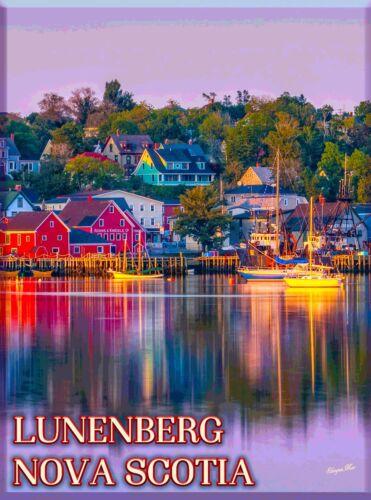Lunenberg Nova Scotia Eastern  Canada Canadian Travel Advertisement Poster
