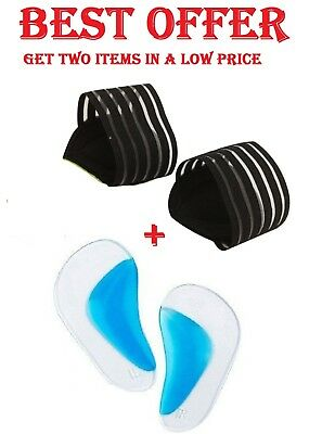Best Gel Arch Support Foot Insole + New Cushion Pain Heel Spur Straps